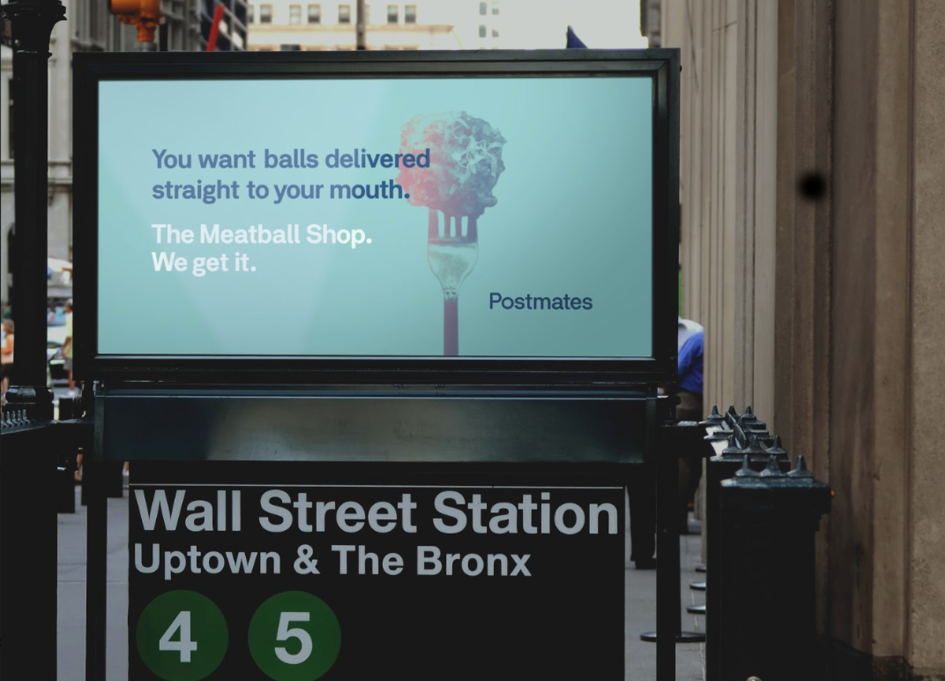 Postmates & 180LA clearly get NYC with new campaign