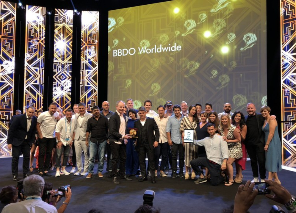 """BBDO named """"Network Of The Year"""" for record 7th time at Cannes"""
