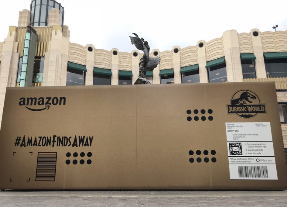 Los Angeles' The Grove goes all Jurassic with Amazon's biggest delivery ever