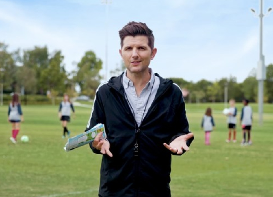 Adam Scott talks rules of soccer for  Stonyfield