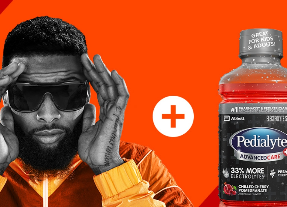 NFL's Beckham Jr. rehydrates with Pedialyte