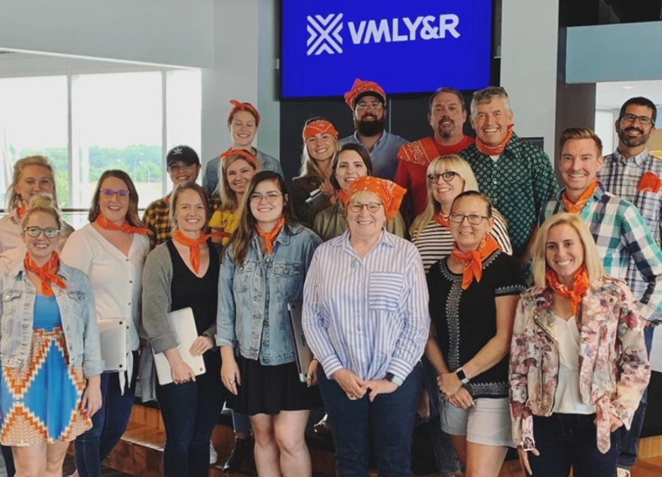 VMLY&R celebrates first anniversary by giving back