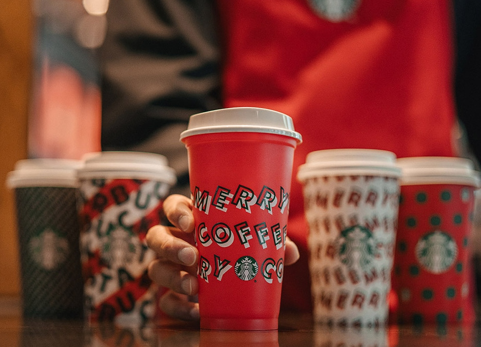Starbucks unveils holiday cups