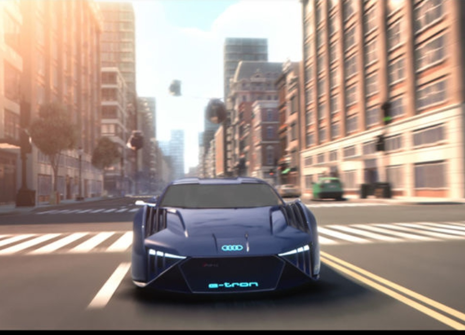 Audi builds animated car for 'Spies in Disguise'